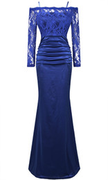 Wholesale 2014 Fall Sexy Sleeve Lace Spaghetti Strap Evening Gown Prom Dress Sheer Dress
