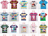 Wholesale Summer Peppa Pig Kids Short Sleeve T Shirt Cotton Embroidery Cartoon Baby s Tshirt Children Boy Girl Tshirts Peppa Pig Clothes QZ467
