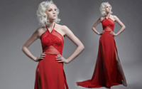 Wholesale - 2014 Sexy Red Prom Dresses Sheath Column Halter ...