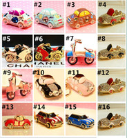 Wholesale Car Keychain for boys and girls rhinestones Keychains creative gift