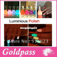 Wholesale FREESHIPPING Fashion NEW Luminous Nail Art Polish Varnish Glow in the Dark Nail Polish Lacquer c