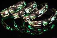 3 Size Camouflage pattern LED dog collars LED pet Flashing c...