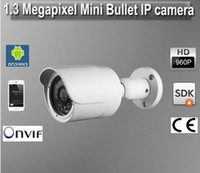 Wholesale Mini camera bullet housing Megapixel IP camera with IR Leds Day and night Waterproof HD caatv like Dahua