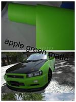 Wholesale Apple green Matt PVC Air Channels Self adhesive car wrapping car protection film high quality m roll MV30m