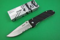 Wholesale Sanrenmu China - China knife LAND SANRENMU knife 907 knife 57HRC 3cr15mov blade G10 + steel handle folding knife Favorites hunting hiking knives Christmas