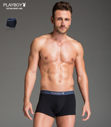 Wholesale Playboy Gift Box stretch cotton men s underwear underpants leggings pants hip