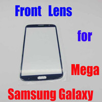 For Samsung   2013 Best Quality Touch Screen Outer Glass front lens for Samsung Galaxy Mega i9200 9200 with logo Free Shipping 4 Colors on Offer
