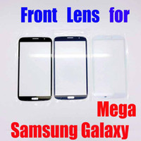For Samsung   Newest Promotion!!!Touch Screen Outer Glass front lens for Samsung Galaxy Mega i9200 9200 with logo 4 Colors Free Shipping