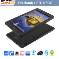 Wholesale 5pcs cheap g GPS tablet pc Freelander PD10 GS inch MTK8312 Dual Core Android Dual Sim Dual Camera phone call tablet pc
