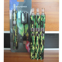 Wholesale E Cigarette EVOD MT3 Kits E Cig Ego Starter Blister Kit Camouflage MT3 Atomizer Clearomizers EVOD mAh Battery Ego Electronic Cigarettes