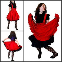 Wholesale 2014 PGothic Lolita Red Cotton Jumper High Wasited Skirt Custom to your size
