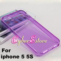 Pour iPhone 5 Hot vente de Crystal Transparent souple TPU Housse en Gel pour 5G 5S 4 4S 4G