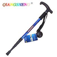 Wholesale Hiking AntiShock Walking Pole Trekking Stick Crutches QiangSheng Professional Hiking Stick crutch high quality DropShipping