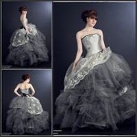 Wholesale 2014 Whimsical Fairytale Ball Gown Rhinestones and Tulle Cinderella Couture Wedding gowns beading victorian dress Bridal Gowns