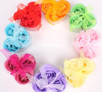Wholesale washing cleaning bath rose Flower paper petals soap gift wedding favor mulit color