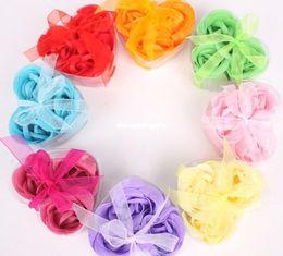 Wholesale washing cleaning bath rose Flower paper petals soap gift wedding favor mulit color