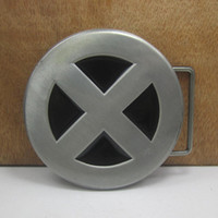 Wholesale Buckle home X man belt buckle film belt buckle FP with pewter finish MOQ
