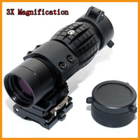 Rifle Scopes airsoft magnifier - Hunting X Magnifier Sniper Airsoft Rifle Scope Sight with QD Flip To Side for mm Rail Mounts