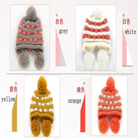 Wholesale Fashion Winter Women Beanies Warm Knitting Hats double ball knitted hats Hot Selling Han edition Caps multicolor via DHL