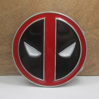 Wholesale Buckle home Fashion deadpool belt buckle with pewter finish FP with continous stock