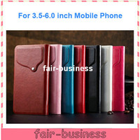 Wholesale Colorful Universal Crazy Horse Leather Wallet Case for Mobile Phone inch to inch Cover for Samung Galaxy S4 S3 Note iphone