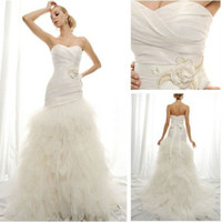 Trumpet/Mermaid Reference Images Chiffon WD5730 2012 Sweetheart Long Train Tulle Grecian Wedding Dresses