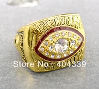envío gratis réplica de oro washton pieles rojas anillo de campeonato