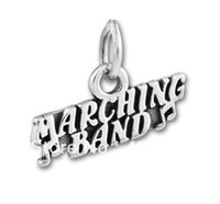 Precio de Marching band-El envío libre 10pcs muchos antisilver palabra grabó encantos de la banda (H101949)
