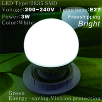 Wholesale Freeshipping per E27 W bright Led globe lamp led golf light Spotlight ball bulbs V V