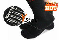 Y-MB-W01-SO Body Texitle, Magnets, Tourmaline Wholesale - Tourmaline Far Infrared Therapy Socks One Pair Free Shipping, Tourmaline Socks Massager Black Feet M