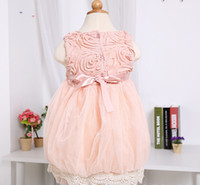 TuTu Summer Ball Gown New arrived 2014 summer new Baby, Kids Clothing Children's girls skirts dance lace rose flower dtutu party dress floral sleveless lace dress
