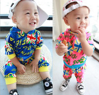 Spring / Autumn baby union suit - Children s Outfits baby suit Europe America Union Flag Hoodies Kids Tracksuit Casual Suit Boy Girl Sets