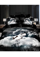 100% Polyester Woven Home 3D Music note black and white bedding set queen size comforter duvet cover bed sheet quilt bedcloth bedspread bedsheet violin
