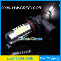 Wholesale 11W HB4 CREE R5 COB Chip with Lens High Power LED Car Fog Light Daytime Running Light Bulb