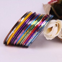 Wholesale Nail Art Sticker rolls Nail Art Stripping Tape Decoration Sticker Colors Mix