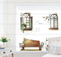 Graphic vinyl PVC Animal Wholesale - Free shipping Home decor Window glass decorate PVC Wall sticker