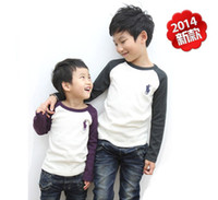 Wholesale 2014 new style baby boy T shirt children horse Bottoming Shirt cotton wool lycra tee kid tops clothes clothing red green blue