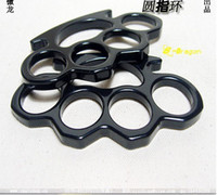 Wholesale BLACK THIN STEEL BRASS KNUCKLES DUSTER BUCKLE