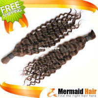 Wholesale Deep wave Indian hair bulk remy indian virgin hair extension DHL healthy quality