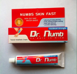 Wholesale Top Tattoo Numb Painless Tattoos Cream g Dr Anesthetic tubes For Tattoo Piercing Makeup Tattoo kits by EMS