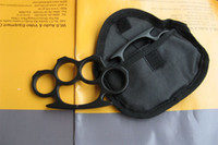 Wholesale HIGH QUALITY BRASS KNUCKLE DUSTER BELT BUCKLE BLACK WITH BAG