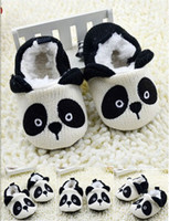 Winter add shoe strap - 10 off Add wool not to drop the baby shoes toddler shoes white black panda baby warm shoes cartoon soft soled walker shoes pairs C