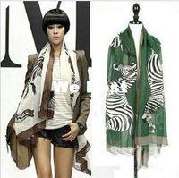 Wholesale New Fashion Korea style Fall Winter Scarf Voile Bali yarn Zebra Scarf Long Beach Scarf L size cm RJ1755