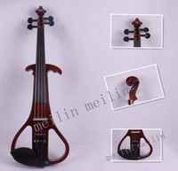 Wholesale Factory direct handmade electric violin Dark brown size