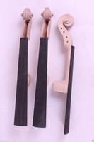 Wholesale 1set violin hand carved violin head Neck fretboard High Quality