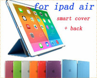 Folding Folio Case adjustable ipad case - Transparent clear back cover with PU Leather Case Smart Cover Adjustable Holder Stand for ipad ipad air ipad