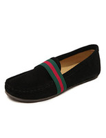 Wholesale Comfortable Black Round Toe Color Block Cowhide Boat Shoes for Woman women r57 u7 F4p