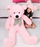 Wholesale 4 FEET TEDDY BEAR STUFFED DARK BROWN WHITE PINK LIGHT BROWN GIANT JUMBO size cm