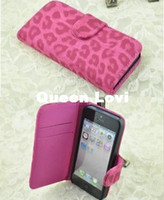 For Apple iPhone TPU Yes Free Shipping by DHL Wholesale Newest Leopard PU Wallet case cover For iPhone 5, Credit ID Card case For iPhone 5 R 5G J1185