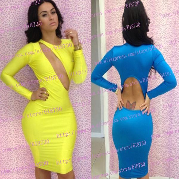 Yellow Blue Hot Sale Clubwear Bandage Dress New 2013 Club Dresses ...